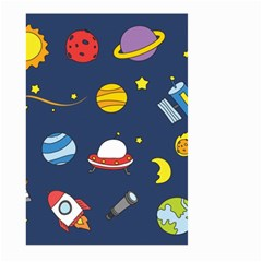 Space Background Design Large Garden Flag (Two Sides)