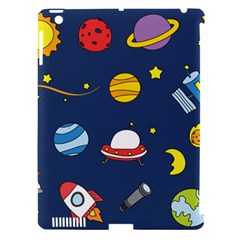 Space Background Design Apple iPad 3/4 Hardshell Case (Compatible with Smart Cover)