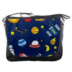 Space Background Design Messenger Bags