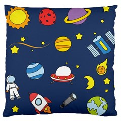Space Background Design Large Cushion Case (One Side)