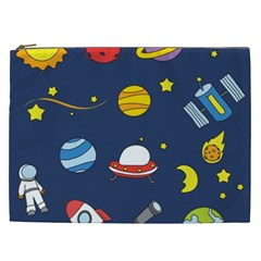 Space Background Design Cosmetic Bag (XXL)