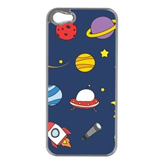 Space Background Design Apple iPhone 5 Case (Silver)