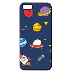 Space Background Design Apple iPhone 5 Seamless Case (Black)