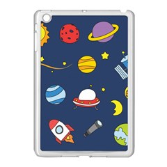 Space Background Design Apple iPad Mini Case (White)
