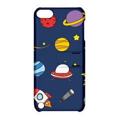 Space Background Design Apple iPod Touch 5 Hardshell Case with Stand