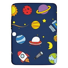 Space Background Design Samsung Galaxy Tab 3 (10.1 ) P5200 Hardshell Case