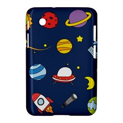Space Background Design Samsung Galaxy Tab 2 (7 ) P3100 Hardshell Case