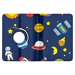 Space Background Design Kindle Fire Hdx Flip 360 Case
