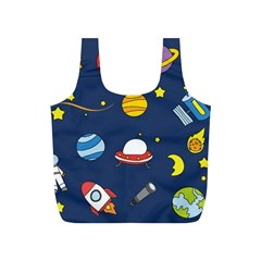 Space Background Design Full Print Recycle Bags (S)