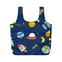 Space Background Design Full Print Recycle Bags (M)
