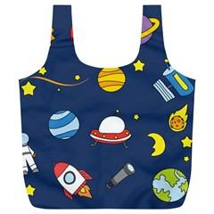 Space Background Design Full Print Recycle Bags (L)