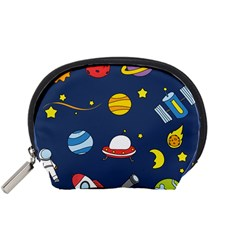 Space Background Design Accessory Pouches (Small)