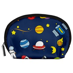 Space Background Design Accessory Pouches (Large)