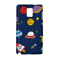 Space Background Design Samsung Galaxy Note 4 Hardshell Case