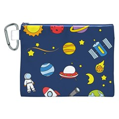 Space Background Design Canvas Cosmetic Bag (XXL)