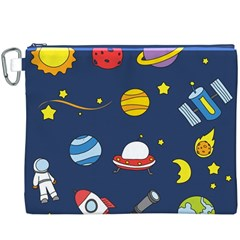 Space Background Design Canvas Cosmetic Bag (XXXL)