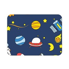 Space Background Design Double Sided Flano Blanket (mini)