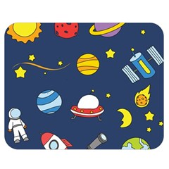 Space Background Design Double Sided Flano Blanket (Medium)