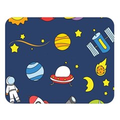 Space Background Design Double Sided Flano Blanket (Large)