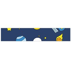 Space Background Design Flano Scarf (Large)