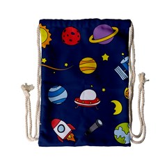 Space Background Design Drawstring Bag (Small)