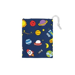 Space Background Design Drawstring Pouches (XS)