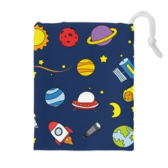 Space Background Design Drawstring Pouches (Extra Large)