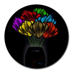 Flowers Painting Still Life Plant Round Mousepads