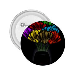 Flowers Painting Still Life Plant 2.25  Buttons