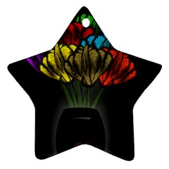 Flowers Painting Still Life Plant Ornament (Star)