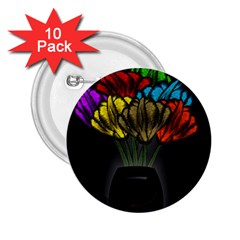 Flowers Painting Still Life Plant 2.25  Buttons (10 pack)