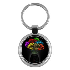 Flowers Painting Still Life Plant Key Chains (Round)