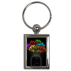 Flowers Painting Still Life Plant Key Chains (Rectangle)
