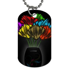 Flowers Painting Still Life Plant Dog Tag (Two Sides)