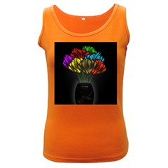 Flowers Painting Still Life Plant Women s Dark Tank Top