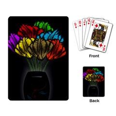 Flowers Painting Still Life Plant Playing Card