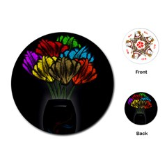 Flowers Painting Still Life Plant Playing Cards (round)