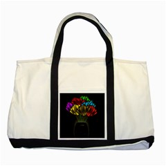 Flowers Painting Still Life Plant Two Tone Tote Bag