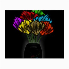 Flowers Painting Still Life Plant Small Glasses Cloth (2 Side)
