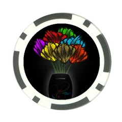 Flowers Painting Still Life Plant Poker Chip Card Guard (10 pack)