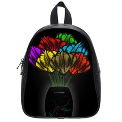 Flowers Painting Still Life Plant School Bags (small)