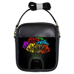 Flowers Painting Still Life Plant Girls Sling Bags
