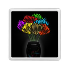 Flowers Painting Still Life Plant Memory Card Reader (square)