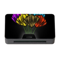 Flowers Painting Still Life Plant Memory Card Reader With Cf