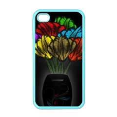 Flowers Painting Still Life Plant Apple iPhone 4 Case (Color)