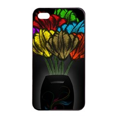 Flowers Painting Still Life Plant Apple Iphone 4/4s Seamless Case (black)