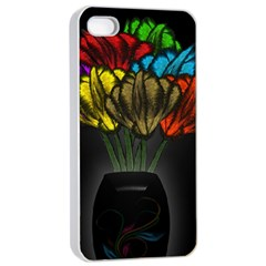 Flowers Painting Still Life Plant Apple Iphone 4/4s Seamless Case (white)