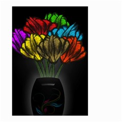 Flowers Painting Still Life Plant Small Garden Flag (two Sides)