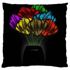 Flowers Painting Still Life Plant Large Cushion Case (One Side)
