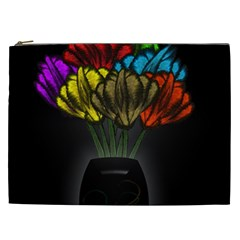 Flowers Painting Still Life Plant Cosmetic Bag (xxl)